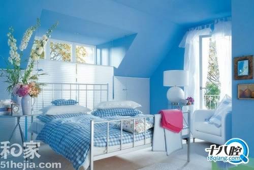 淡蓝色墙面,白色家具配什么地板,窗帘比较好