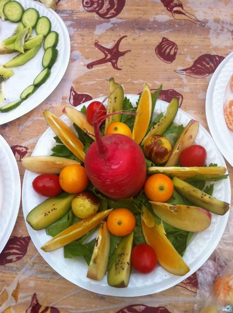 幼儿园做水果拼盘