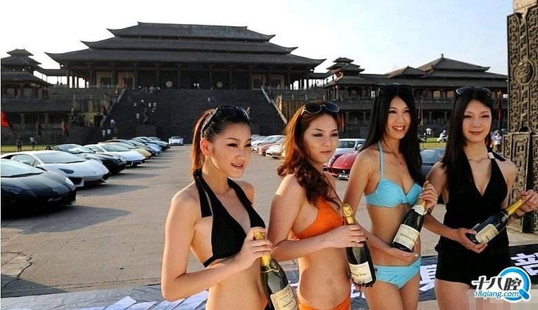 富二代超跑俱乐部效仿SCC横店拍宣传片 美女豪车阵容豪华图片