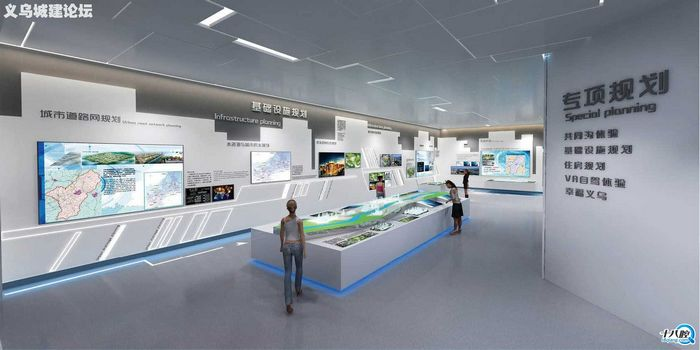 义乌市城市规划展示馆设计图0202 看上去真是高大