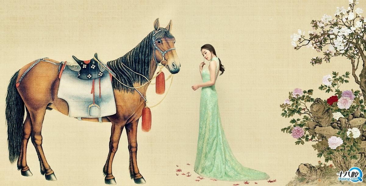 【韩城摄影】中国风工笔画写真|婚纱大片
