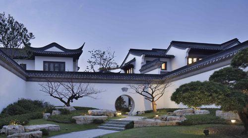 山水中式合院别墅,享自然风光图片