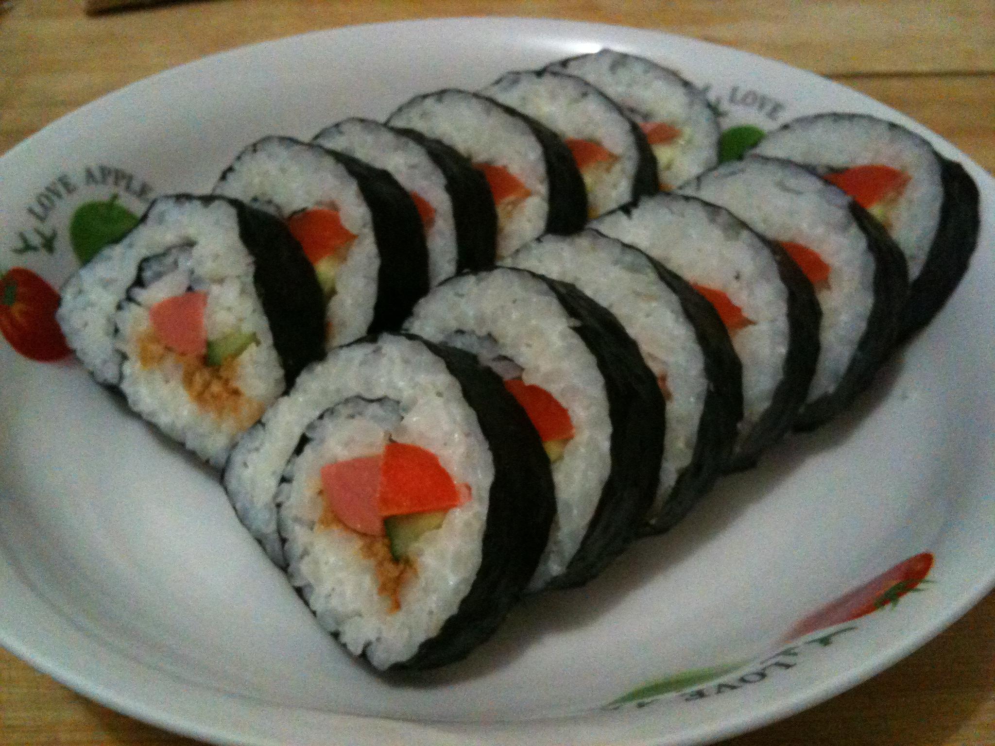 自己做寿司步骤