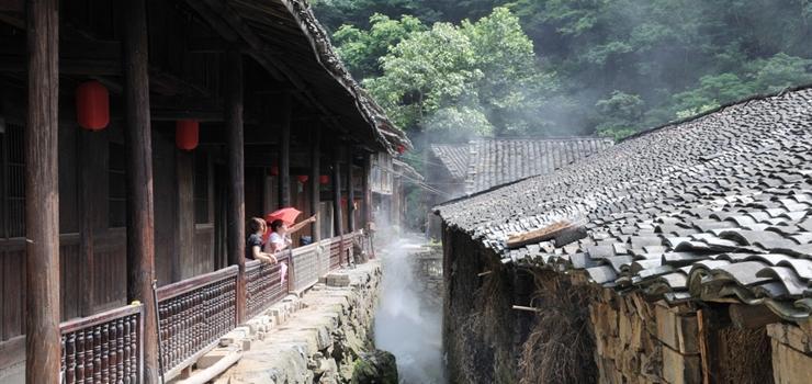 灵江源森林公园位于磐安县