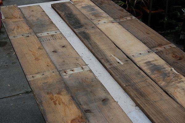 废旧木板diy制作创意绿色植物点缀的餐桌盆栽|装修
