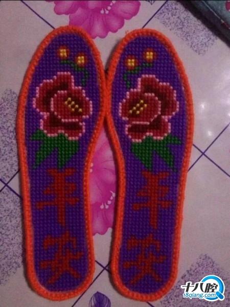 十字绣鞋垫|广而告之