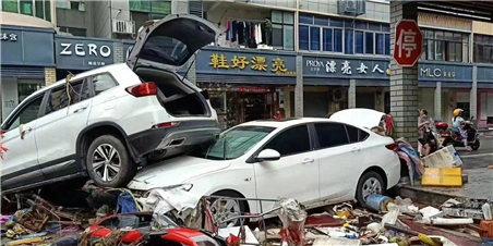 台风让金华很受伤 多地受灾画面曝光